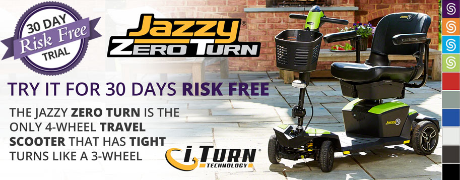 jazzy zero turn scooter try it out for 30 days risk free
