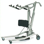 Invacare lifts have larger wheels for rolling smoothly on thick carpet