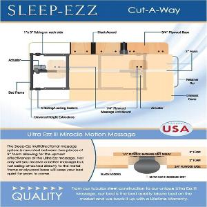 Sleep-Ezz Deluxe Line Bariatric Adjustable Bed