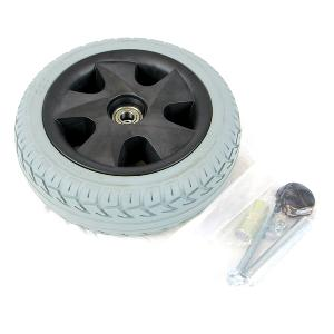 "10"" Gray Flat-Free Front Wheel Assembly for Leo 3-Wheel Scooters"