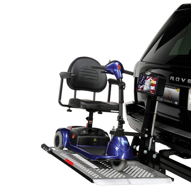 Harmar al100hd heavy duty platform scooter lift harmar for Motorized wheelchair lifts for cars