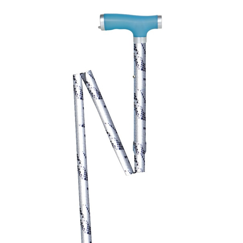Folding Canes with Silicone Glow Grip Handle & Tip Single-Point Cane