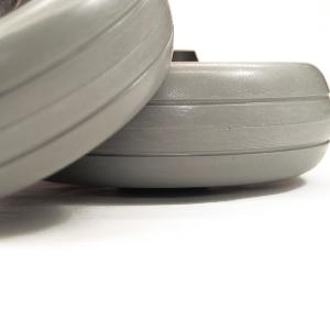 "6"" Gray Urethane Caster Wheel Assembly for Pronto Series Power Wheelchairs (PAIR)"