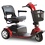 Pride Victory 10 3-Wheel Full Size Mobility Scooter In Red