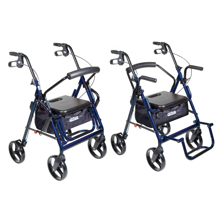 Drive Medical Duet Transport Chair And Rollator Drive