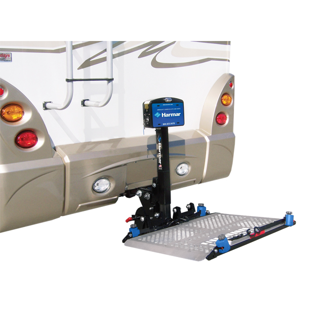 Harmar al300rv rv power chair and scooter lift harmar for Motorized wheelchair lifts for cars