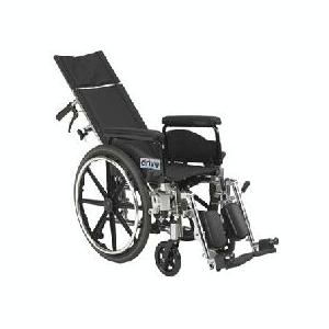 Viper Plus Reclining Wheelchair w/ Detachable Desk Arms & Elevating Legrest - 12""