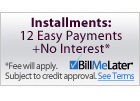 We Offer Interest-Free Financing Through Bill Me Later