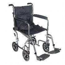 Drive Medical Wrangler II Standard Transport Wheelchair
