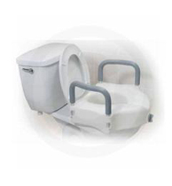 Drive Medical Raised Toilet Seat with Arms Raised Toilet Seat