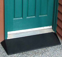 "EZ-Access 1.5"" Rubber Threshold Ramp w/Beveled Sides Threshold Ramp"