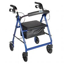 "Drive Medical Go-Lite w/6"" Wheels Rolling Walkers W/Handbrakes"