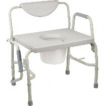 Drive Medical Deluxe Bariatric Drop-Arm Commode Commode
