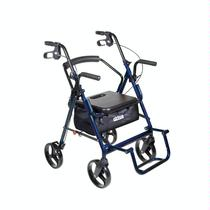 Drive Medical Duet Transport Chair and Rollator Lightweight Transport Wheelchair
