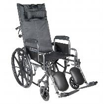 Drive Medical Silver Sport Recliner Wheelchair