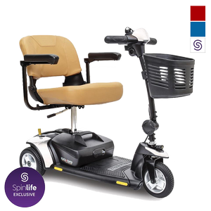 Pride Go-Go Elite Traveller 3-Wheel Travel Scooter