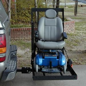 E-Z Carrier E-Z Carrier 2 Fold-Up Scooter & Power Wheelchair Lift Outside Manual Vehicle Lift