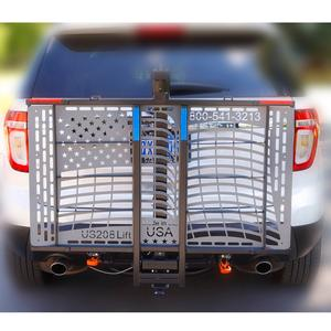 WheelChair Carrier SL Patriotic Flag Power Lift Outside Power Vehicle Lift