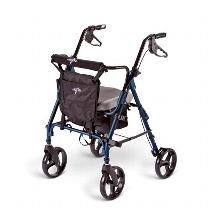 Medline Comfort Glide Rolling Walkers W/Handbrakes