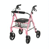 Medline Breast Cancer Awareness Rollator Rolling Walkers W/Handbrakes