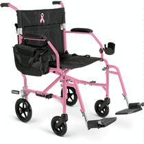Medline Freedom 2 Breast Cancer Transport Chair Lightweight Transport Wheelchair
