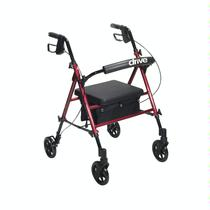 Drive Medical Universal Seat Height Aluminum Rollator Rolling Walkers W/Handbrakes