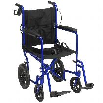 "Drive Medical Lightweight Expedition w/12"" Rear Wheels Lightweight Transport Wheelchair"