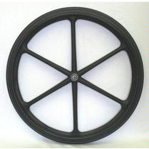 "New Solutions 24"" x 1"" Mag Wheel, 1/2"" Bearings, pair Wheel"
