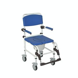 Drive Medical Aluminum Rehab Shower Commode Chair Rehab Shower Commode Chair