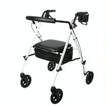 Medline Luxe Rollator Rolling Walkers W/Handbrakes