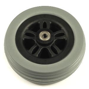 "Pride 6"" Gray Caster Wheel Assembly for Jazzy 614 Pride Mobility Parts"