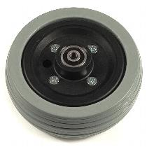 "Pride 6"" Gray Flat-Free Caster Wheel Assembly for Jazzy Power Chairs Pride Mobility Parts"