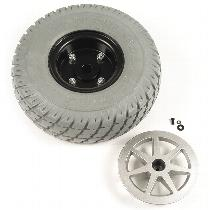 "10"" Gray Flat-Free Drive Wheel Assembly for Jazzy Select"
