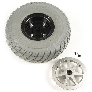 "Pride 10"" Gray Flat-Free Drive Wheel Assembly for Jazzy Select Drive Wheel Assemblies"