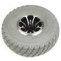 "10"" Gray Flat-Free Drive Wheel Assembly for 610; 1103; 1113"