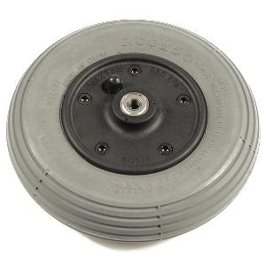 "Pride 8"" Gray Air-Filled Front Wheel Assembly for Rally Scooters Front Wheel Assemblies"
