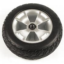 "10.4"" Black Foam-Filled Front Wheel Assembly for Victory 10 3-Wheel Scooters"