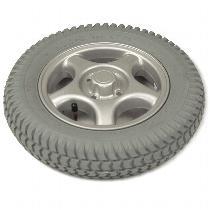 Drive Wheel Assembly, Pneumatic, Grey Tire/Silver Rim (14 x 3)