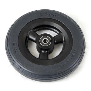 "Invacare 6"" Gray Urethane Caster Wheel Assembly for At'm Power Wheelchairs Caster Wheel Assemblies"