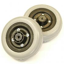 "Invacare 6"" Gray Urethane Caster Wheel Assembly for Pronto Series Power Wheelchairs (PAIR) Caster Wheel Assemblies"
