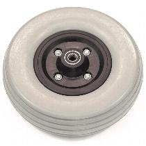 "Invacare 8"" Gray Semi-Pneumatic Front Wheel Assembly for Invacare 400 Scooters Front Wheel Assemblies"