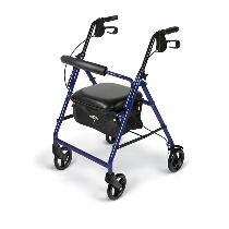 Medline Basic Rollator Rolling Walkers W/Handbrakes