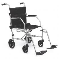 Medline Basic Steel Transport Chair Standard Transport Wheelchair