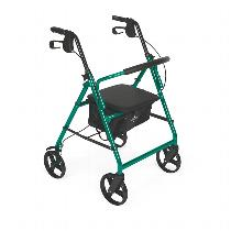 "Medline Basic Steel 8"" Rollator Rolling Walkers W/Handbrakes"