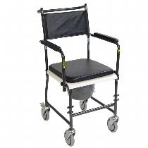 Drive Medical Drop-Arm Transport Commode Commode