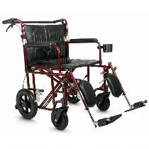 Medline Bariatric Transport Chair Heavy Duty/High Weight Capacity Transport