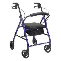 "Invacare ProBasics Rollator with 6"" Wheels Rolling Walkers W/Handbrakes"