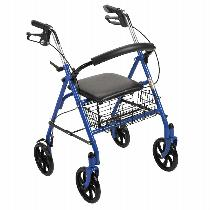 Drive Medical Four Wheel Rollator with Fold Up Removable Back Support Rolling Walkers W/Handbrakes