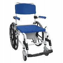 Drive Medical Aluminum Shower Commode Mobile Chair Rehab Shower Commode Chair