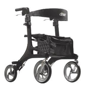 Drive Medical Nitro Elite CF Rollator Rolling Walkers W/Handbrakes